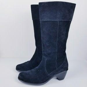 Dansko risa tall black suede leather boot